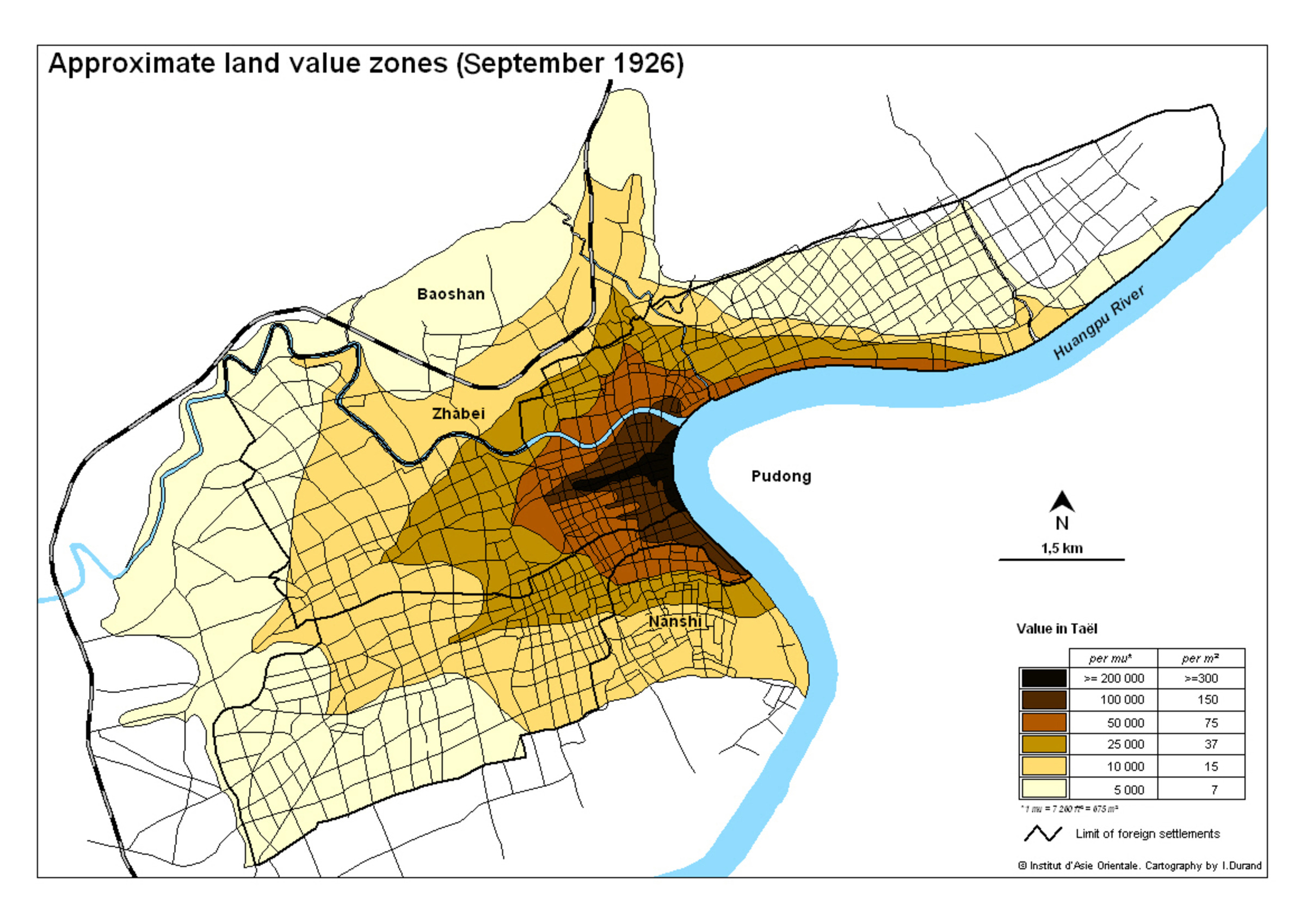 Land Value Map Approximate land value zones | Virtual Shanghai Land Value Map